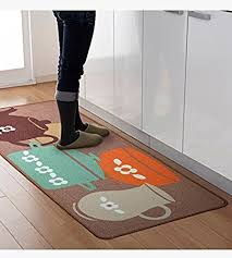 Modern Kitchen Rugs Designer Teapot Print Area Rug Unique Room Floor Mats