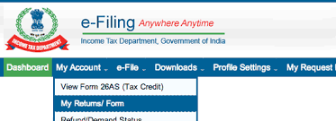 E Filing Check Income Tax Refund Status Through Income Tax India E