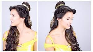 belle for halloween belle disney princess hair tutorial youtube