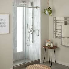 48 Shower Doors 48 Dorsey Frameless Sliding Shower Door Bathroom