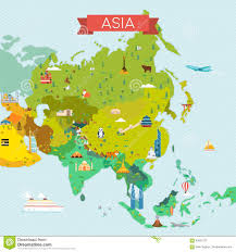 Maps Of Asia Map Of Asia Stock Vector Image 83621077
