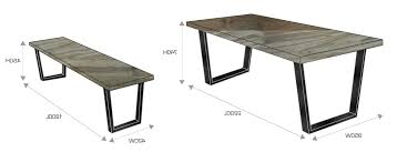 standard height of dining room table