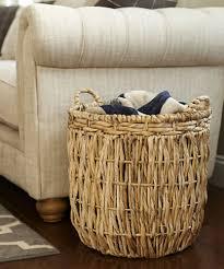 Rattan Baskets by Round Wicker Basket In Wicker Baskets