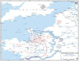 Ww2 Europe Map Map Of Wwii Normandy August 1 13 1944