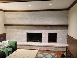 How To Update Brick Fireplace by How To Whitewash A Brick Wall Or Fireplace Young House Love