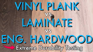 is vinyl flooring better than laminate vinyl plank vs laminate vs engineered hardwood