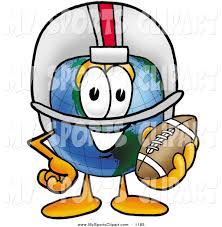 sports clip art of a sporty world earth globe mascot cartoon