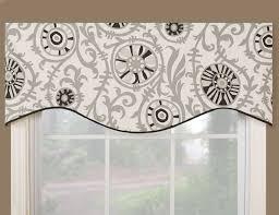 Kitchen Valance Ideas Vcny Infinity Sheer Window Scarf Valance 54x216 Black Size 54