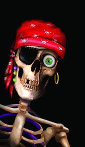 Skeleton Halloween Window Decorations by Amazon Com Wowindow Posters Peppy The Pirate Skull Halloween