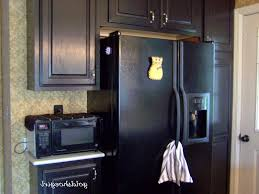 kitchen black appliances ideas natural green floral vases granite