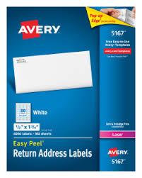 avery easy peel reg return address labels 1 2 quot x 1 3 4 quot