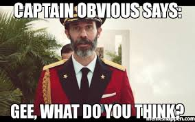 What Do You Think Meme - captain obvious says gee what do you think meme custom 26696
