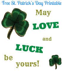 love and luck free st patrick u0027s day printable deja vue designs