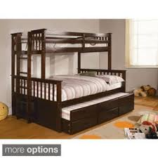 Queen Bed Frame With Twin Trundle by Furniture Of America Rodman 2 Piece Twin Over Queen Bunk Bed Set