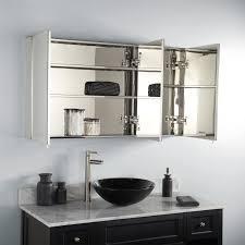 3 Door Mirrored Bathroom Cabinet by Bathroom Cabinets Open Steel Bathroom Medicine Cabinet Bathroom