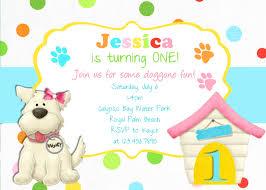 Example Of Invitation Card For Birthday Puppy Birthday Invitations Kawaiitheo Com