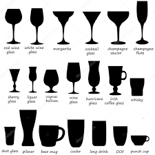 wine glass silhouette glass collection cocktail glass silhouette vector set of