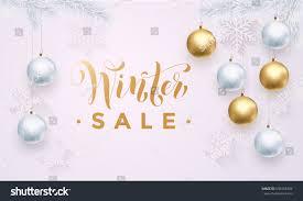premium luxury winter sale background stock vector