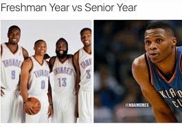 Senior Year Meme - freshman year vs senior year memes nba meme on me me