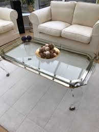 expensive large coffee table good glass u0026 perspex cost over 1000