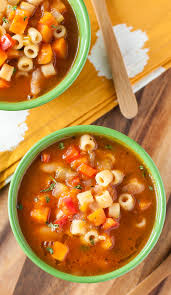 homemade vegetarian minestrone soup