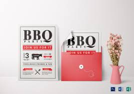 bbq invitation designs u0026 templates in word psd publisher