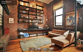 Loft Living Room by An Industrial Style Loft For 925 000 In Park Slope Loft Design