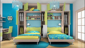 awesome twin bedroom design ideas with double bed for boys room