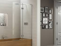 product the new eauzone plus double bath screen combines the beauty of 10mm solid safety glass with clever chrome plated hinges the outer panel can be rotated