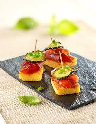 recette cuisine gourmande photographie toasts carrés de polenta jambon cooklook photo