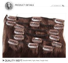 Double Weft Hair Extensions by Julia Malaysian Virgin Hair Straight Clip In Hair Extensions 80g