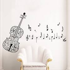 Music Note Wall Decor New Violin Music Notes Wall Stickers Tv Sofa Removable Wall Decals