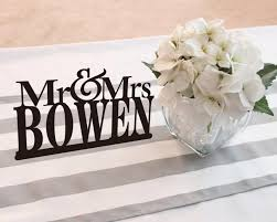 mr and mrs sign for wedding mr mrs last name cake topper wedding table signs custom last
