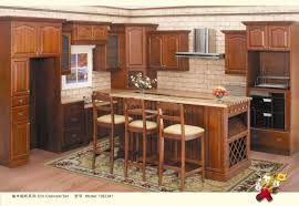 fabulous brown color mahogany wood kitchen cabinets featuring