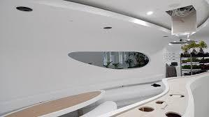 bureau d 騁ude fluide architecture forme fluide courbe blanc moderne hublot bureau