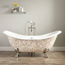 best modern clawfoot tub 71 gretta cast iron double slipper