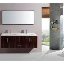 55 Inch Bathroom Vanity Double Sink Virtu Usa Midori 54 Inch Polymarble Double Sink Bathroom Vanity