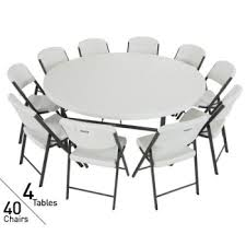 40 Inch Round Table Lifetime 80145 4 Pack 6 U0027 Tables U0026 40 Chairs On Sale With Free Shipping