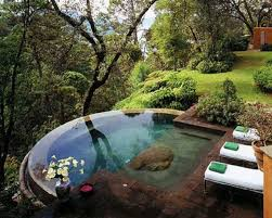 small pool backyard ideas appealing brick wall and lovely small pool plus sitting area in