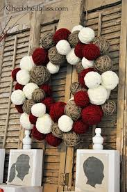 yarn wreath cheap version hometalk