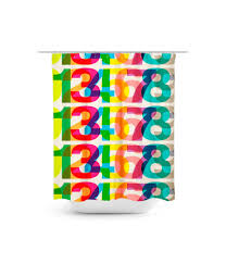 Graphic Shower Curtains by Helvetica Graphic Shower Curtain E10251039381176378m 43 99