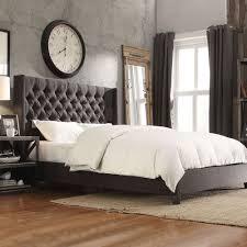 Velvet Tufted Headboard Bed King Size Tufted Headboard Velvet Tufted Headboard Gray