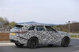 land rover velar blue 2018 range rover velar svr spied being thrashed on the nurburgring