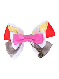 bow for hair disney in white rabbit hair bow