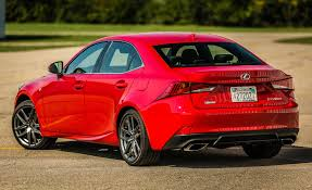 lexus sport sedan 2017 2017 lexus is 200t f sport red exterior rear and side gallery