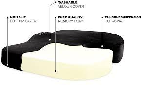 Buy Foam Couch Cushions Amazon Com Memory Foam Seat Cushion By Cush Comfort Non Slip