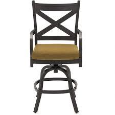 Bar Height Swivel Patio Chairs Avondale Aluminum Patio Counter Height Swivel Bar Stool By