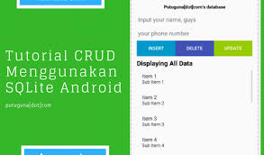 android database tutorial cara menggunakan database sqlite android