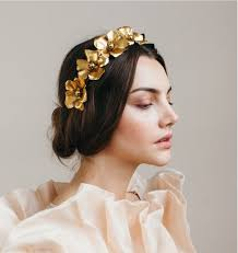 gold headpiece stunning gold headpieces for brides with amazing hairstyles