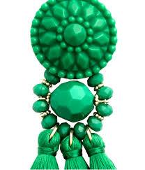 hm earrings lyst h m earrings with tassels in green